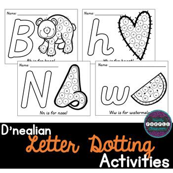 D'nealian Letter Dotting Activities