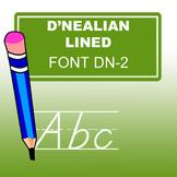 D'nealian Print Lined Font