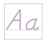 D'nelian Alphabet flash cards