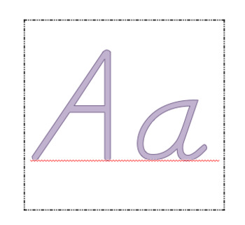 D'nelian Alphabet flash cards