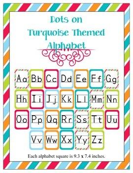 Stripes on Turquoise Alphabet Set
