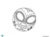 Díos de los Muertos coloring page