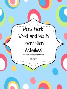D5 Word Work!  Word and Math Connection Activities for Primary Grades!
