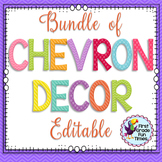 Classroom Decor, Classroom Rules, Classroom Jobs Chevron Classroom Theme