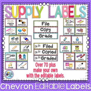 Classroom Theme Decor Bundle Chevron ~ Classroom Jobs, Classroom Rules and More