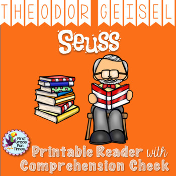 Theodor Seuss Geisel Author Study Includes Spanish Version