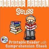 Theodor Seuss Geisel Author Study Dr. Seuss Read Across America Spanish Included