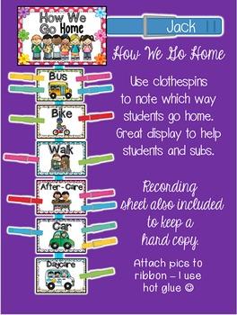 Polka Dot Classroom Decor, Classroom Jobs, Classroom Rules