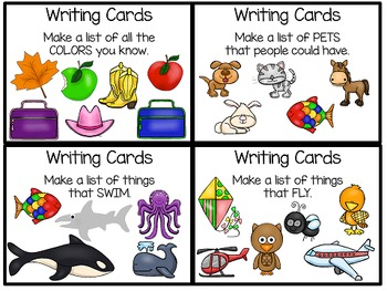 Back to School Writing Prompt Task Cards Bundle