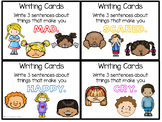 Writing Prompts - Writing Cards for the First Week of School