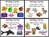 Back to School Activities Writing Prompts for List Making