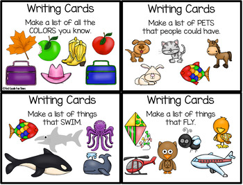 Writing Prompts for List Making and More Back to School Id