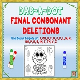 NEW! DAB-A-DOT: FINAL CONSONANT DELETIONS PHONOLOGICAL PROCESS TREATMENT PACKET