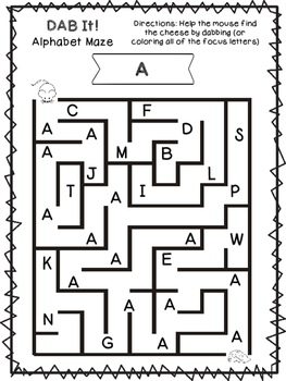 DAB It! Uppercase Alphabet Mazes