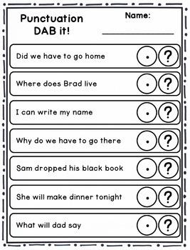 DAB it Activities - Punctuation