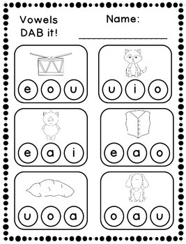 DAB it Activities - Short Vowels