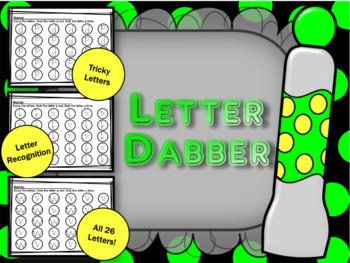 DABBER LETTERS (Letter practice using BINGO dabbers)
