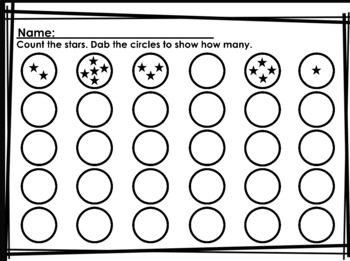 DABBER NUMBERS (Math skills using bingo dabbers)