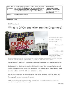 DACA Lesson Plan - for ELD IV or at risk students - high school