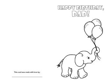 DAD Birthday Card Printables