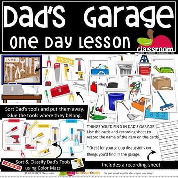 DAD'S GARAGE Preschool PreK Kindergarten 1-Day Lesson Plan