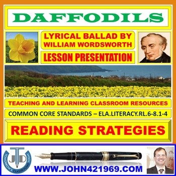DAFFODILS BY WILLIAM WORDSWORTH - LESSON PRESENTATION