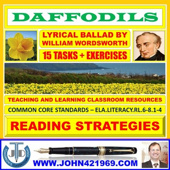 DAFFODILS BY WILLIAM WORDSWORTH - TASKS AND EXERCISES