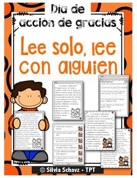 DAILY 5 En español: Tres lecturas diferenciadas - NOVIEMBRE