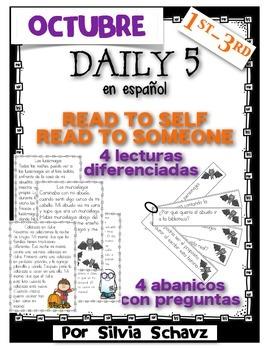 Lee solo y lee con alguien - Tres lecturas diferenciadas para octubre