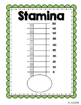 DAILY 5 STAMINA CHART