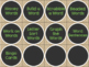 DAILY 5  WORD WORK Drawer Labels Burlap Chalkboard LIME GREEN
