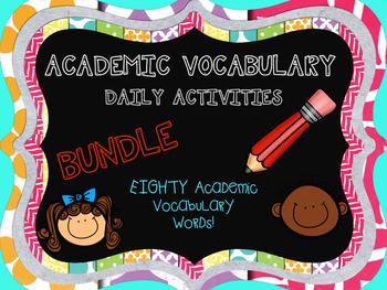 DAILY ACADEMIC VOCABULARY ACTIVITY BUNDLE