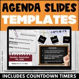 DAILY AGENDA SLIDES with EDITABLE Google Slides Templates Digital Lesson Plans