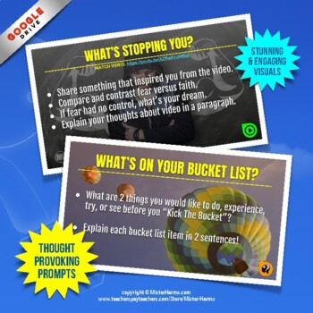 DAILY BELL RINGERS FREEBIE: Growth Mindset Writing Prompts For Any Subject