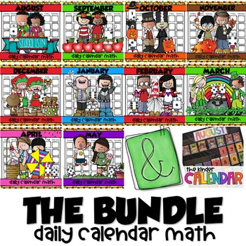 DAILY CALENDAR MATH for KINDERS {THE AUG-MAY BUNDLE}