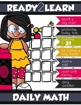 DAILY CALENDAR MATH for PRE-K and K-4 {Number of the Day}