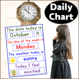 Daily Chart, Visual Calendar for students with Autism, Back to School