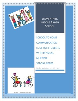 DAILY HOME to SCHOOL logs FOR SPECIALS NEEDS