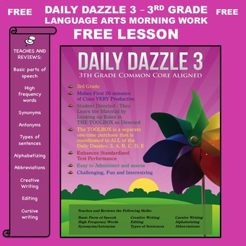 FREE MORNING WORK LESSON - 3rd Grade - DAILY DAZZLE 3