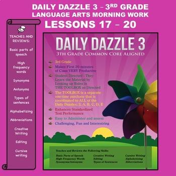 MORNING WORK BUNDLED LESSON -3rd Grade - DD 3 - Lessons 17-20 CC Aligned