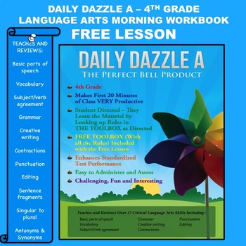 FREE LANGUAGE ARTS MORNING WORK LESSON - DAILY DAZZLE  A  (4th Grade)