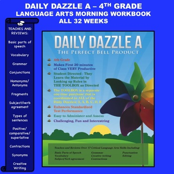 LANGUAGE ARTS BELL RINGER - 4TH GRADE -  DAILY DAZZLE A BOOK - CC ALIGNED