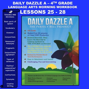 MORNING WORK DAILY DAZZLE A - LANGUAGE ARTS - 4th Grd - BUNDLED LESSONS 25 - 28