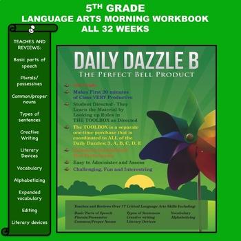 MORNING WORK - LANGUAGE ARTS - DD B BOOK - 5rd Grade - 1 full YEAR - CC Aligned
