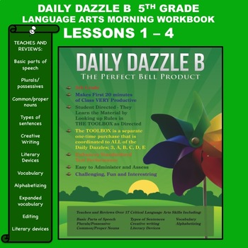 MORNING WORK DAILY DAZZLE B - LANGUAGE ARTS - 5th Grd - BUNDLED LESSONS 1 - 4