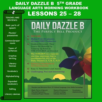 MORNING WORK DAILY DAZZLE B - LANGUAGE ARTS - 5th Grd - BUNDLED- LESSONS 25 - 28