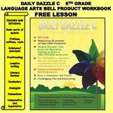 FREE BELL RINGER LANGUAGE ARTS LESSON - DAILY DAZZLE C - 6th Grade