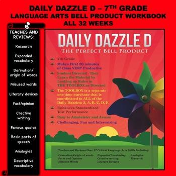 BELL RINGER - LANGUAGE ARTS - DD D BOOK - 7TH GRADE - 1 YEAR - CC ALIGNED