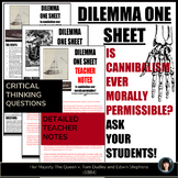 CRITICAL THINKING ACTIVITIES | INFORMATIONAL TEXT | DILEMMA ONE SHEET
