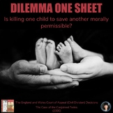 CRITICAL THINKING | INFORMATIONAL TEXT | DILEMMA ONE SHEET